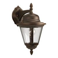 Progress P5863-20 Westport 1 Light 16 inch Antique Bronze Outdoor Wall Lantern in Bulbs Not Included Clear Seeded