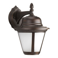 Westport LED 13 inch Antique Bronze Outdoor Wall Lantern in Integrated LED, Etched Seeded