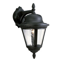 Westport 1 Light 16 inch Textured Black Outdoor Wall Lantern in Bulbs Not Included, Clear Seeded