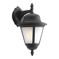 Westport 1 Light 16 inch Black Outdoor Wall Lantern in Bulbs Included, Etched Seeded