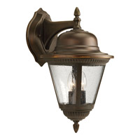 Westport 2 Light 19 inch Antique Bronze Outdoor Wall Lantern in Bulbs Not Included, Clear Seeded