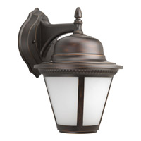 Westport LED 15 inch Antique Bronze Outdoor Wall Lantern in Integrated LED, Etched Seeded