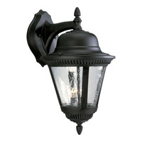 Westport 2 Light 19 inch Textured Black Outdoor Wall Lantern in Bulbs Not Included, Clear Seeded