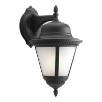 Westport 1 Light 20 inch Black Outdoor Wall Lantern in Bulbs Included, Etched Seeded