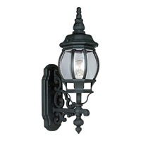 Onion Lantern 1 Light 21 inch Textured Black Outdoor Wall Lantern