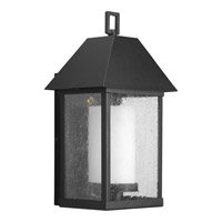 Progress Lighting Domino 1 Light Outdoor Wall in Black P5951-31