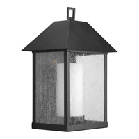 Progress Lighting Domino 1 Light Outdoor Wall in Black P5952-31