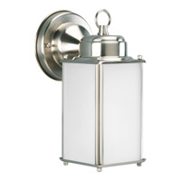 Progress Lighting Roman Coach 1 Light Outdoor Wall Lantern in Brushed Nickel P5985-09WB
