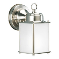 Progress Lighting Roman Coach 1 Light Outdoor Wall Lantern in Brushed Nickel P5986-09