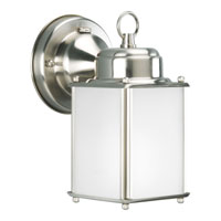 Progress Lighting Roman Coach 1 Light Outdoor Wall Lantern in Brushed Nickel P5986-09STR photo thumbnail