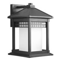 Progress P6002-31 Merit 1 Light 16 inch Black Outdoor Wall Lantern