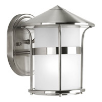 Progress Lighting Welcome 1 Light Outdoor Wall Lantern in Stainless Steel P6003-135