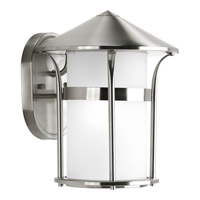Progress Lighting Welcome 1 Light Outdoor Wall Lantern in Stainless Steel P6004-135