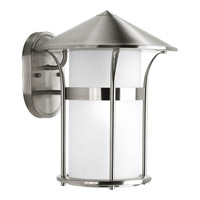 Progress Lighting Welcome 1 Light Outdoor Wall Lantern in Stainless Steel P6005-135 photo thumbnail