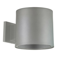Signature 7 inch Metallic Gray Outdoor Wall Lantern in Metallic Grey