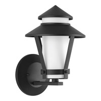 Via 1 Light 11 inch Black Outdoor Wall Lantern