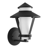 Progress Via 1 Light Outdoor Wall Lantern in Black P6011-31