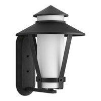 Progress Via 1 Light Outdoor Wall Lantern in Black P6012-31