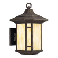 Progress Lighting Arts and Crafts 1 Light Outdoor Wall Lantern in Weathered Bronze P6018-46