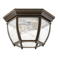 Progress Lighting Roman Coach 2 Light Outdoor Flush Mount in Antique Bronze P6019-20 alternative photo thumbnail