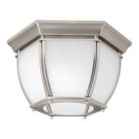 Progress Lighting Roman Coach 2 Light Outdoor Close-to-Ceiling in Brushed Nickel P6020-09