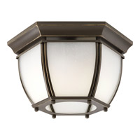 Progress Lighting Roman Coach 2 Light Outdoor Close-to-Ceiling in Antique Bronze P6020-20