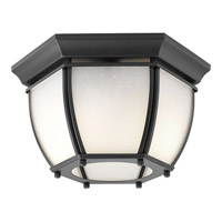 Progress Lighting Roman Coach 2 Light Outdoor Close-to-Ceiling Lantern in Black P6020-31