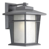 Progress Loyal 1 Light Outdoor Wall Lantern in Textured Graphite P6041-136WB