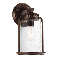 Progress Lighting Botta 1 Light Outdoor Wall Lantern in Antique Bronze with Clear Seeded Glass P6043-20