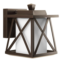 Progress Scope 1 Light Outdoor Wall Lantern in Antique Bronze P6047-20