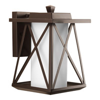 Progress Scope 1 Light Outdoor Wall Lantern in Antique Bronze P6048-20