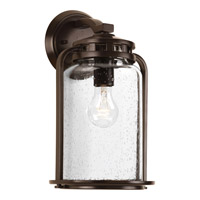 Progress Lighting Botta 1 Light Outdoor Wall Lantern in Antique Bronze with Clear Seeded Glass P6050-20