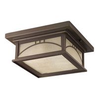 Residence 2 Light 12 inch Antique Bronze Outdoor Flush Mount