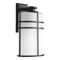 Format 1 Light 16 inch Black Outdoor Wall Lantern