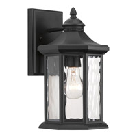 Progress Edition 1 Light Outdoor Wall Lantern in Black P6071-31