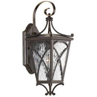 Progress P6080-108 Cadence 1 Light 16 inch Oil Rubbed Bronze Outdoor Wall Lantern in Clear Water, Small, Design Series photo thumbnail