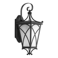 Progress P6080-31 Cadence 1 Light 16 inch Black Outdoor Wall Lantern in Etched Seeded photo thumbnail