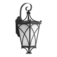 Progress Cadence 1 Light Outdoor Wall Lantern in Black P6081-31