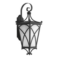 Progress Cadence 1 Light Outdoor Wall Lantern in Black P6082-31