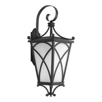 Progress Cadence 1 Light Outdoor Wall Lantern in Black P6083-31