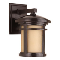 Progress Lighting Wish 1 Light LED Outdoor Wall Lantern in Antique Bronze with Etched Umber Linen Glass P6084-2030K9