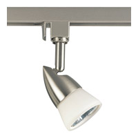 Track Lighting 1 Light 120V Brushed Nickel MR-16 Line Voltage Track Head Ceiling Light in White Glass