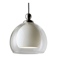 Illuma-Flex 1 Light Low Volt Brushed Nickel Flex Track Fixture Ceiling Light in White Glass