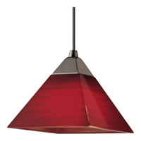 Illuma-Flex 1 Light Low Volt Brushed Nickel Flex Track Fixture Ceiling Light in Red
