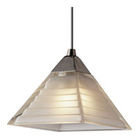 Illuma-Flex 1 Light Low Volt Brushed Nickel Flex Track Fixture Ceiling Light in Pyramid White