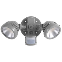 Signature LED 7 inch Metallic Gray Security Flood Light, with Motion Sensor