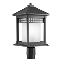 Merit 1 Light 19 inch Black Outdoor Post Lantern
