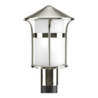 Progress P6406-135 Welcome 1 Light 14 inch Stainless Steel Outdoor Post Lantern in Etched Opal photo thumbnail
