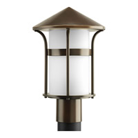 Progress Lighting Welcome 1 Light Outdoor Post Lantern in Antique Bronze P6406-20