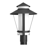Via 1 Light 18 inch Black Outdoor Post Lantern